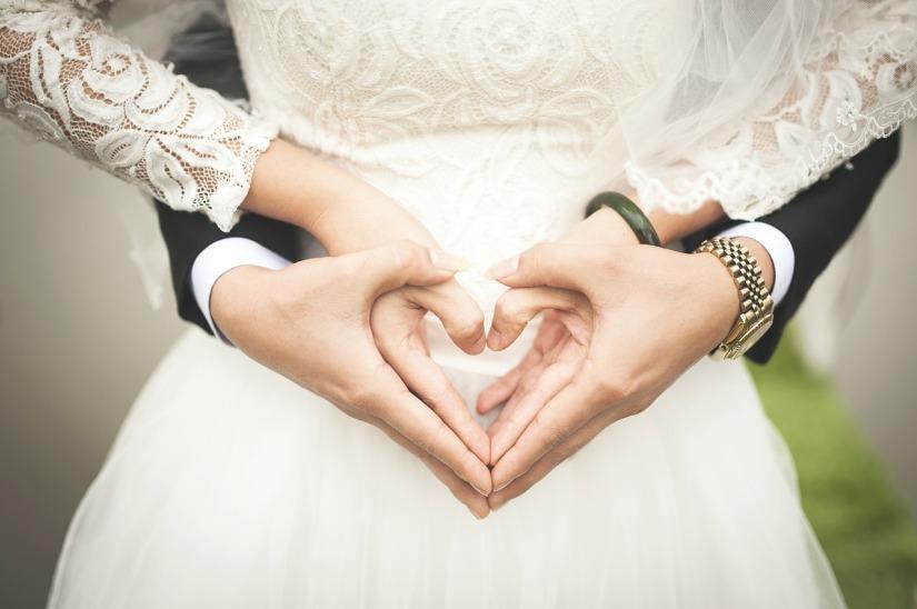 Wedding hand hearts